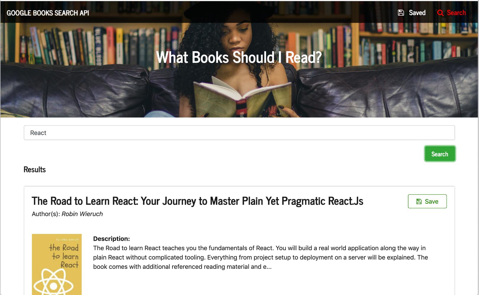 google books api react